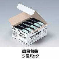 カシオ ネームランドテープ 簡易包装5個パック 12mm 透明テープ(黒文字) 1パック(5個入) XR-12X-5P-E