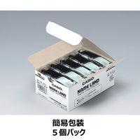 カシオ ネームランドテープ 簡易包装5個パック 18mm 透明テープ(黒文字) 1パック(5個入) XR-18X-5P-E