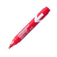 アスクル アスクル油性マーカー 太字 赤 5本 油性ペン