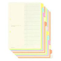コクヨ カラー仕切カード(ファイル用) A4タテ 12山見出し シキ-100 1袋(5組入)