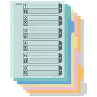 コクヨ カラー仕切カード(ファイル用) A4タテ 6山見出し シキ-110N 1袋(10組入)