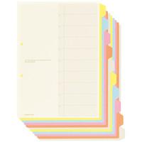 コクヨ カラー仕切カード(ファイル用) A4タテ 10山見出し シキ-130 1袋(5組入)