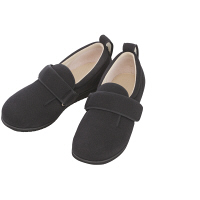 あゆみ 介護靴 7028ダブルマジックII E ブラックLL(24.0-24.5cm)両足 施設・院内用(取寄品)