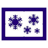 【クリスマス】スノースプレー用型紙 すりこみくんRS スノー (店舗装飾・室内装飾・デコレーション) 1枚