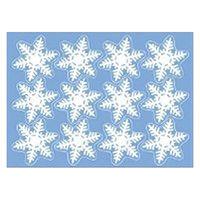 【クリスマス】ウインドウシール リピッタ スノー1S (店舗装飾・室内装飾・ウインドウシールレーション) 1枚