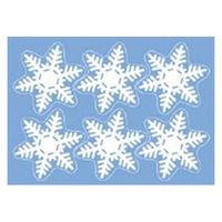 【クリスマス】ウインドウシール リピッタ スノー1M (店舗装飾・室内装飾・ウインドウシールレーション) 1枚