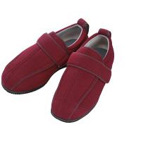 あゆみ 介護靴 7030ケアフルIII 7E ワイン3L(25.0-25.5cm)両足 外出用(取寄品)