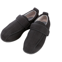 あゆみ 介護靴 7030ケアフルIII 7E 黒L(23.0-23.5cm)両足 外出用(取寄品)