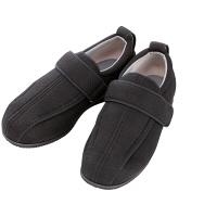 あゆみ 介護靴 7030ケアフルIII 7E 黒5L(27.0-27.5cm)両足 外出用(取寄品)