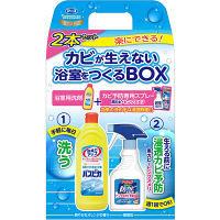 【アウトレット】お風呂の防カビスプレー無香性400mL+バスピカ500mL 企画品 アース製薬 1セット