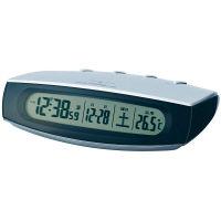 ナイトライト置電波時計 シルバー 1個