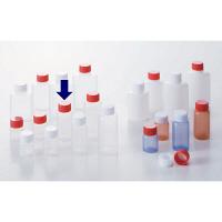 ケーエム化学 ミニサンプルボトル(パッキン付) 10cc アカ 1箱(100本入) (取寄品)