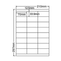 東洋印刷 ナナワード粘着ラベル(ワープロ&レーザー用ラベル) 24面 上下余白付 LDZ24U A4 1袋(100シート入)