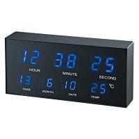 【アウトレット】ノア精密 felio スターネス LEDデジタル置掛両用時計 1個 FEW150 BK
