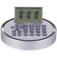 アデッソ 8桁電卓付電波置時計