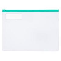 コクヨ カラーソフトクリヤーケースC(チャック付き)S型[軟質] A4-S 緑 1セット(20枚)