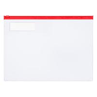 コクヨ カラーソフトクリヤーケースC(チャック付き)S型[軟質] A4-S 赤 1セット(20枚)
