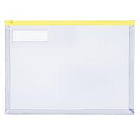 コクヨ カラーソフトクリヤーケースC(チャック付き)S型・マチ付き A4-S 黄 1セット(20枚)