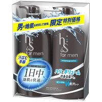 h&s for men ボリュームアップポンプ2ステップ シャンプー(520ml)&コンディショナー(520g) P&G