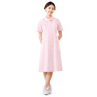 高浜ユニフォーム 医療白衣 ワンピース White Plos ピンク 3L AN-0253 (取寄品)