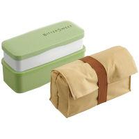スリムコンパクトランチ保冷バッグ付 緑