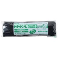 プラス つづりひも セル先 45cm 再生PET 黒 TF-100PR 1袋(100本入)