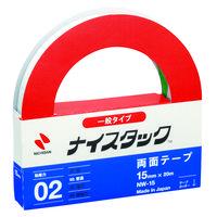 ニチバン ナイスタック(R) 紙両面テープ 幅15mm×20m NW-15 1セット(3巻:1巻×3)