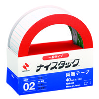 ニチバン ナイスタック(R) 紙両面テープ 幅40mm×10m NW-40 1セット(3巻:1巻×3)