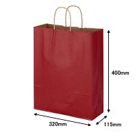丸紐 手提げ紙袋 赤 L 300枚