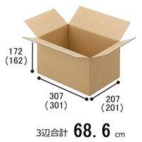 【80サイズ】 ワンタッチ式 宅配ダンボール No.10 幅307×奥行207×高さ172mm 1セット(120枚:60枚入×2梱包)