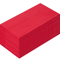 溝端紙工印刷 カラーナプキン 8つ折り 2PLY イタリアンレッド 1袋(50枚入)