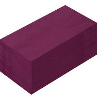 溝端紙工印刷 カラーナプキン 8つ折り 2PLY ワインレッド 1袋(50枚入)