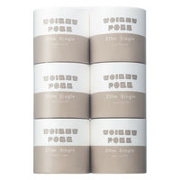 トイレットペーパー 6ロール パルプ シングル 211m 業務用ロングロール 1パック(6個入) エイトワン