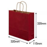 手提げ紙袋 丸紐 ベーシックカラー 赤 M 1袋(50枚入) スーパーバッグ