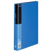 コクヨ クリヤーブック<ベーシック> 固定式 A4縦 60ポケット 青 ラ-B60B 1セット(4冊)(直送品)