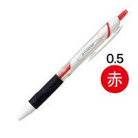 ジェットストリーム 油性ボールペン 0.5mm 赤インク 白軸 SXN-150-05 三菱鉛筆uni