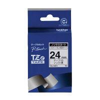 ブラザー ピータッチテープ ノンラミネートテープ 24mm 白テープ(黒文字) 1パック(5個入) TZe-N251