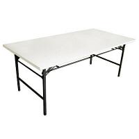 トーカイスクリーン 折り畳みテーブル アイボリー 幅1800×奥行900×高さ700mm 1台 (取寄品)