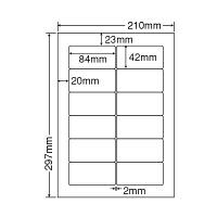 東洋印刷 ナナワード粘着ラベル(ワープロ&レーザー用ラベル) 12面 SHARP書院タイプ SHC210 1セット(2500シート入)