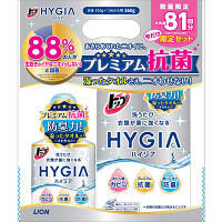 トップハイジア(HYGIA) プレミアム抗菌 ミンティーハーブの香り 本体+詰め替え 1パック(本体450g+詰め替え360g) 液体衣料用洗剤 ライオン
