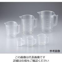 ニッコー 透明計量カップ 100mL 1-4623-11 1セット(10個) (直送品)