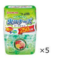 虫コナーズ ビーズタイプ 置き型 フルーツガーデンの香り 本体 360g×1セット(5個入) 玄関・窓用防虫剤 大日本除虫菊