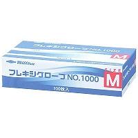 共和 ミリオン フレキシグローブ NO.1000 M 粉付き(パウダーイン) プラスチック 1箱(100枚入) (使い捨て手袋)