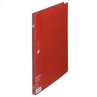 プラス スーパーエコノミークリアーファイル A4タテ 20ポケット レッド FC-122EL 88422 1箱(10冊入)