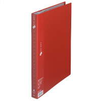 クリアファイルA4縦 赤 40P 10冊