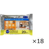 キッチン用除菌お掃除シート 重層+電解水クリーナー 大和物産 1セット(1パック20枚入×18)