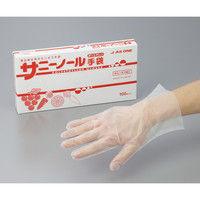 アズワン サニーノール手袋 ポリエチレン 100枚入 M 1セット(1000枚:100枚×10箱) 6-9680-02(直送品)