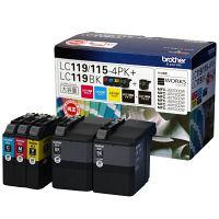 ブラザー インクジェットカートリッジ LC119/115-4PKLC119BK 1パック(5個入)(ブラック+4色パック)(アスクル限定)