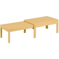 筑波産商 国産 伸長リビングテーブル NA 幅1050〜1945×奥行550×高さ400/370mm 1台 (取寄品)
