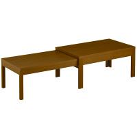 筑波産商 国産 伸長リビングテーブル WN 幅1050〜1945×奥行550×高さ400/370mm 1台 (取寄品)